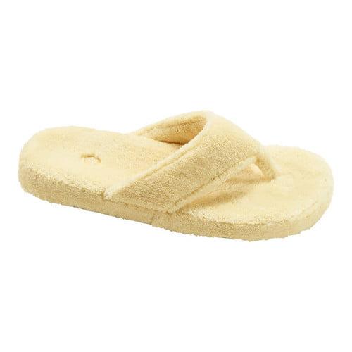 Acorn Women's Spa Thong Slide Slipper,Buttercream,Large / 8-9 B(M) US
