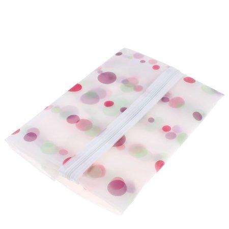 """Clothes Suit Garment PEVA Dots Printed Zip Up Dustproof Cover Bag 27"""" Length - image 3 de 4"""