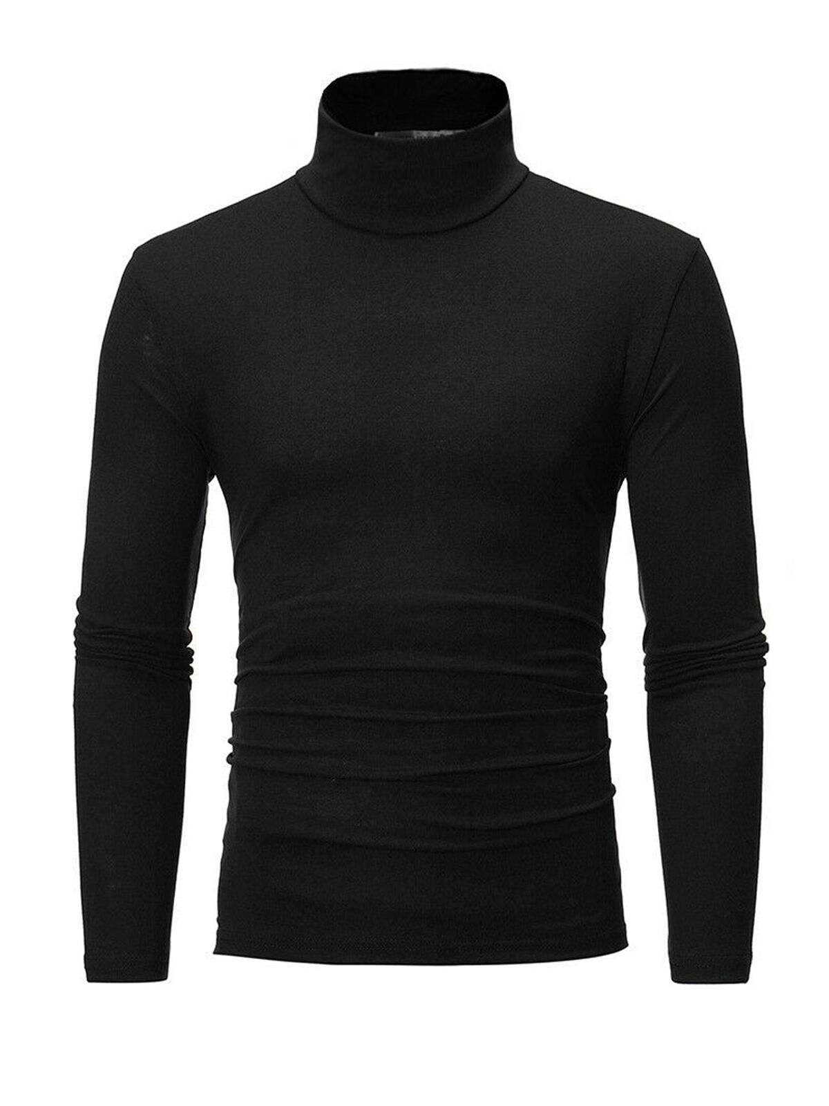 k mens thermal cotton turtle polo neck skivvy turtleneck sweater stretch shirts