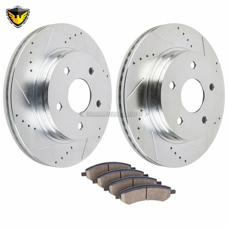 Front Brake Pads And Rotors Kit For Dodge Ram 1500 Durango Chrysler Aspen