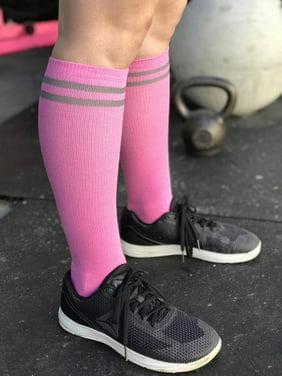 c251d9368 Product Image The Sox Box Bubblegum Pink Striped Knee High Sport Socks