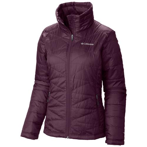Columbia Womens Mighty Lite III Jacket Burgundy Small