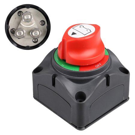 EEEkit DC12-48V Dual Battery Disconnect Switch Kit 1-2-both-off Isolator Selector Marine Battery Switches 200/1000 Amp Waterproof for Ship Boat Small Yacht RV Camper Truck Car ()