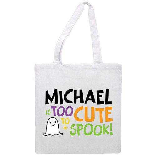 Personalized Boy's Too Cute To Spook Treat Bag