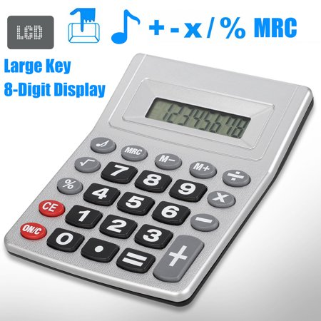 EEEkit Calculator with Big Button Key Including Percentage,Square Root,Add,Subtract,Multiply and Divide,8 Digit,with Adjustable