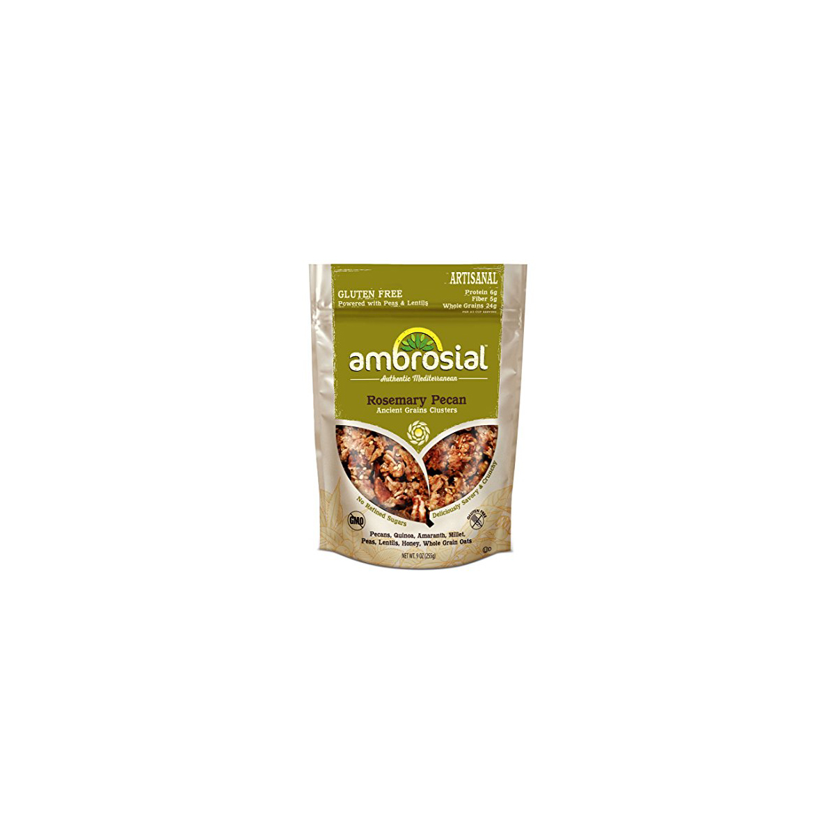Ambrosial Granola,Inc Clusters, Rosemary Pecan - (Case of...