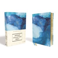 Niv, Artisan Collection Bible, Cloth Over Board, Blue, Art Gilded Edges, Red Letter Edition, Comfort Print (Hardcover)