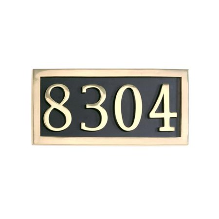 Brass Accents I08-P7540-605 6 x 13.12 in. Four Numeral Solid Brass Address Marker Plaque; Black