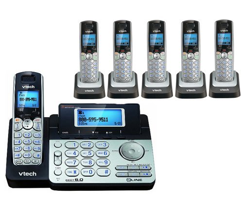 VTech DS6151 + (5) DS6101 2 Line Expandable cordless phone by VTech