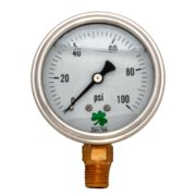 Zenport Industries LPG100 0 - 100 PSI Low Pressure Gauge