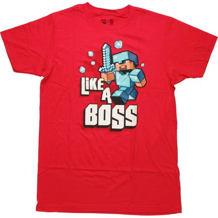 f1ae967f7 Minecraft - Minecraft Like a Boss T-Shirt - Walmart.com