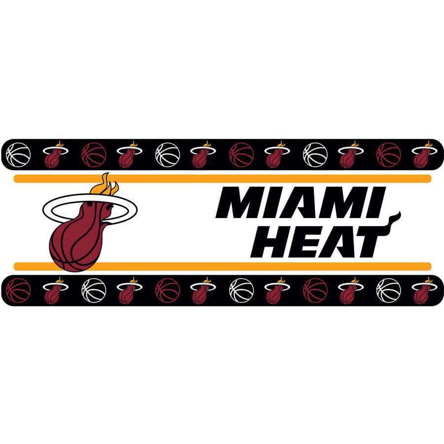NBA Miami Heat Wall Border