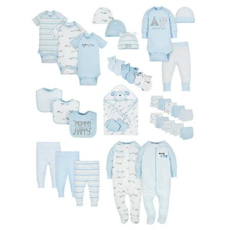 Baby Shower Layette Set, 34-piece (Baby Boys)