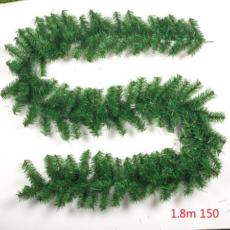 9ft Christmas Garlands Green Sedge Rattan Christmas Ornaments for Home Decorations