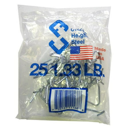 Chicago Heights Steel M005FAST25RG025 T-Post Fence Clips, (Fence Clips)