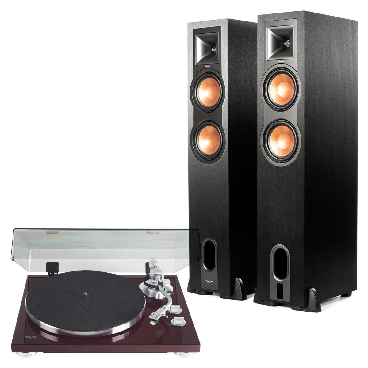 Klipsch R-26PF Powered Floorstanding Speakers with Teac TN-400S Turntable by Klipsch