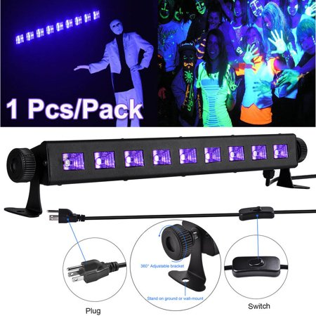 27W 9 LEDs UV LED Black Light Bar Stage Lighting DJ Disco Halloween Party Lamp