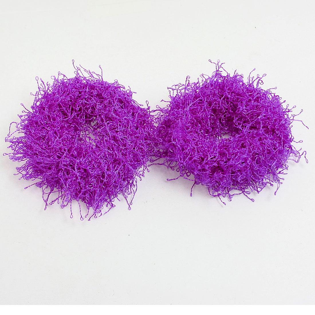 Unique Bargains 2 Pcs Stretchy Hair Accessories Solid Color Scrunchies Ponytail Holder