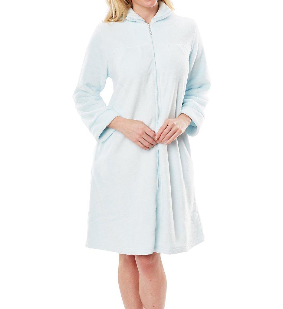 Softies by Paddi Murphy 9620-40 Plush Velour Short Zip Robe