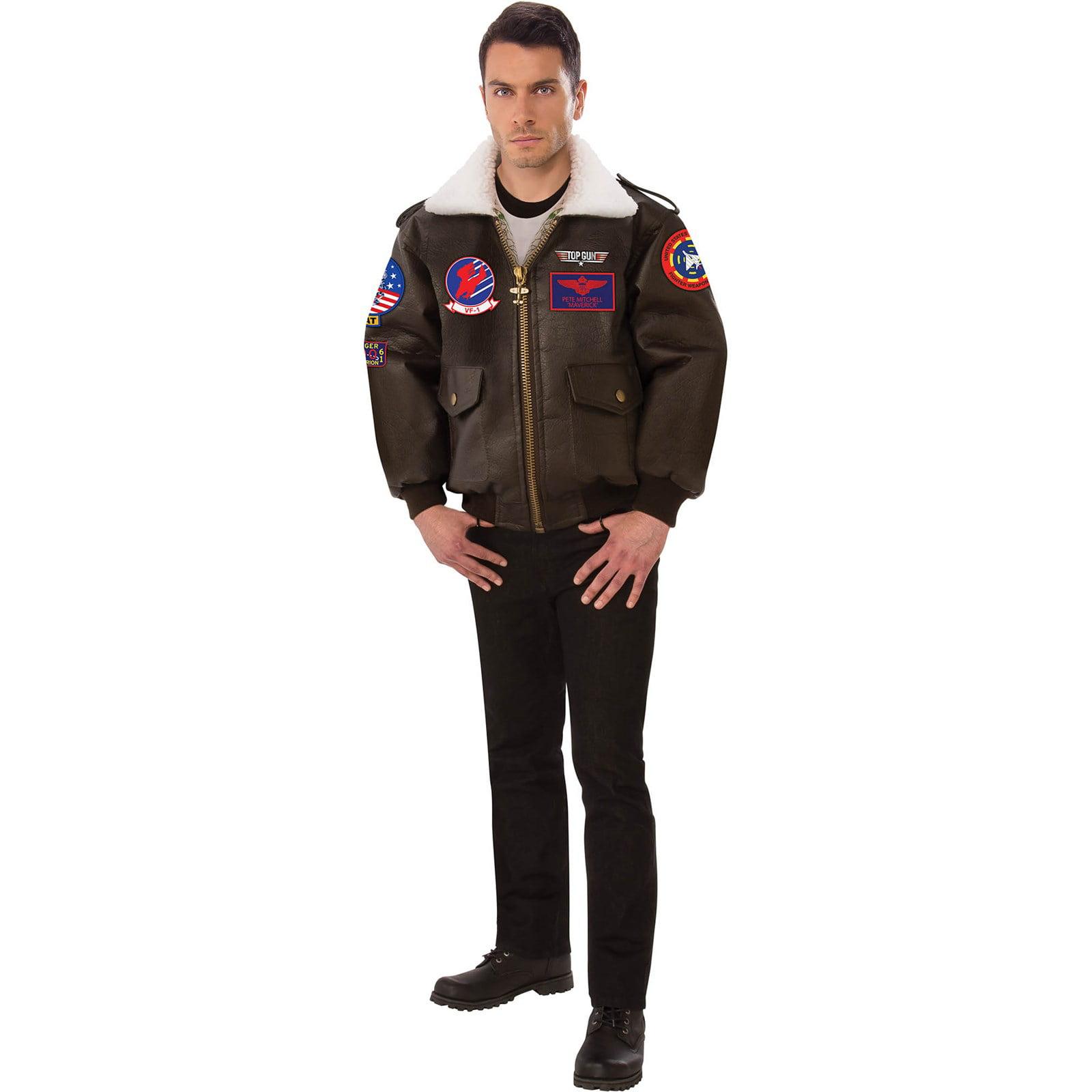 Rubie S Costumes Top Gun Adult Bomber Jacket Halloween Costume