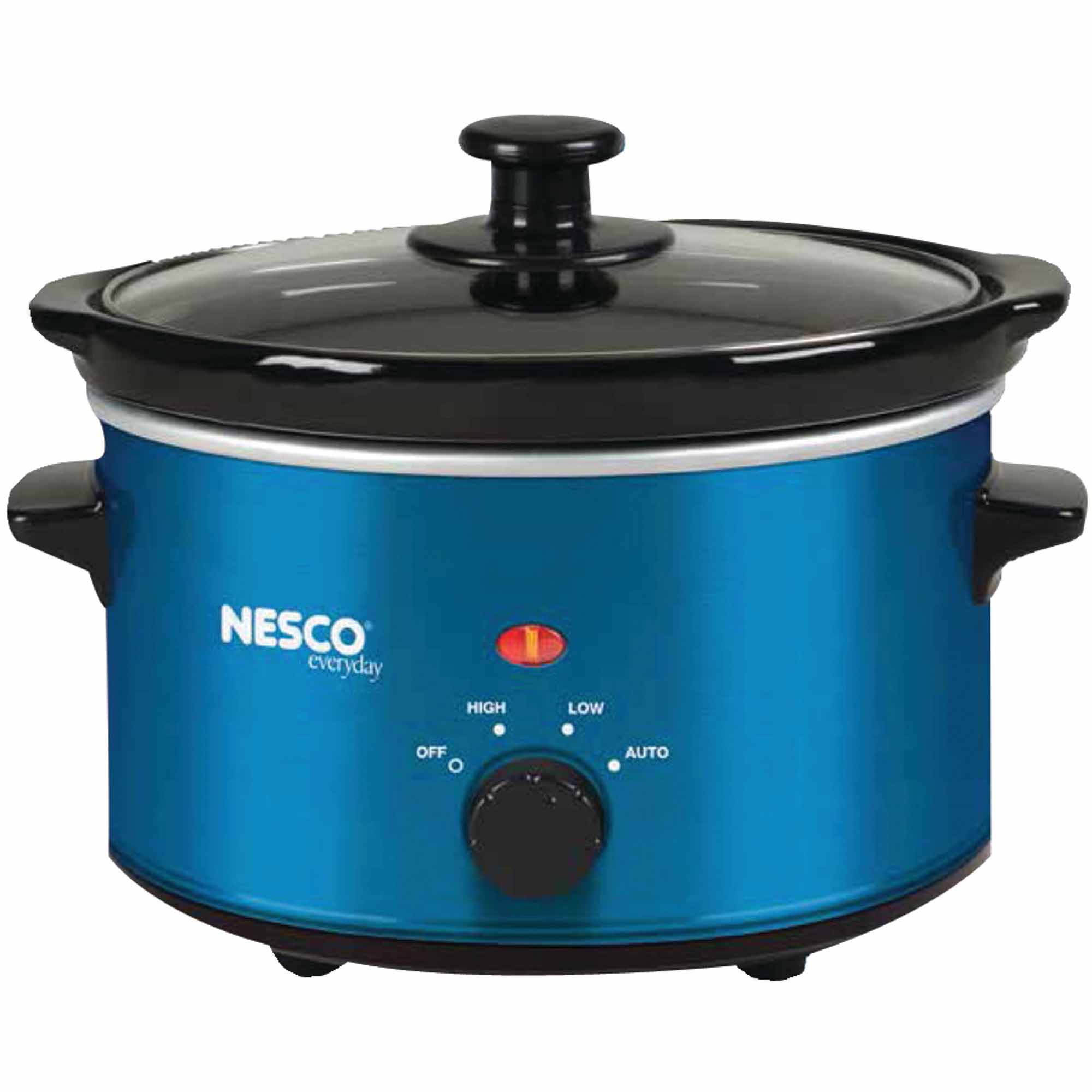 Nesco SC-150B 1.5-Quart Oval Slow Cooker, Metallic Blue