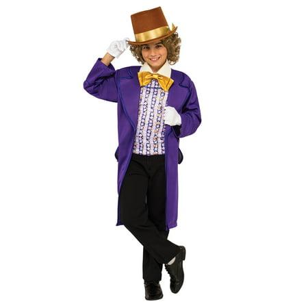 Boys Willy Wonka Costume - Willy Wonka Costume For Boys