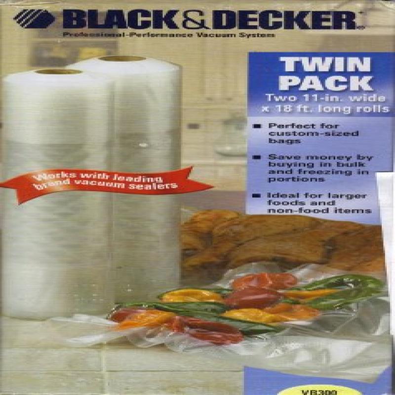 Black Decker Vacuum Sealing Bags 2 Rolls Twin Pack