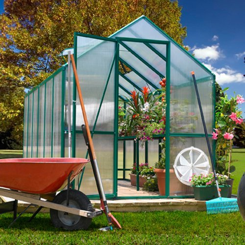 Easy Grow Greenhouse w Dual Door in Green