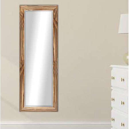 Millwood Pines Pearl Beveled Scratches Traditional Full Length Mirror