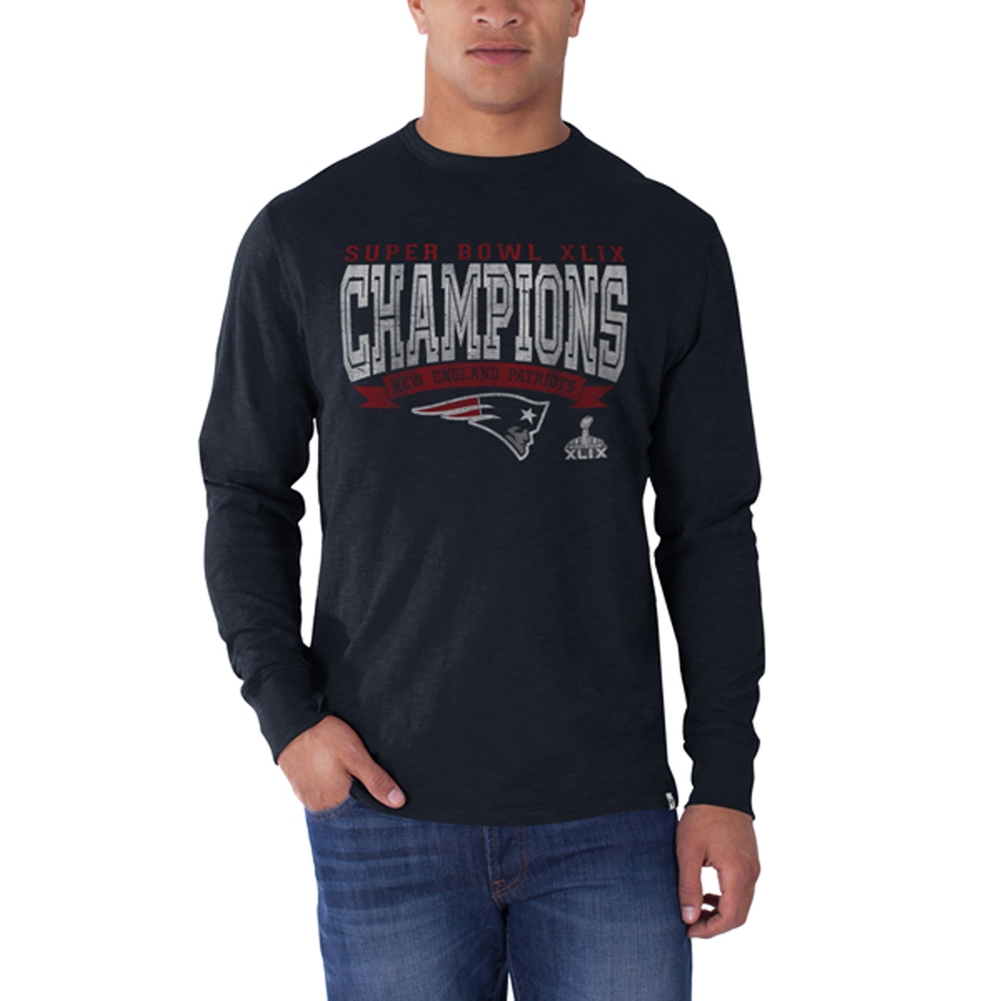 New England Patriots - Super Bowl 49 Champions Logo Scrum Long Sleeve T-Shirt