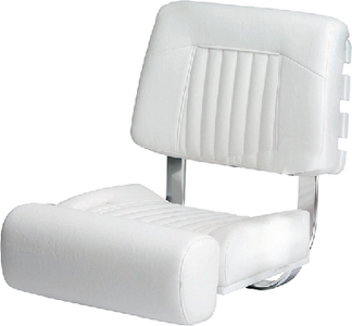Garelick Ladder Back Flip Up Bolster Seat White w/o Arms ...