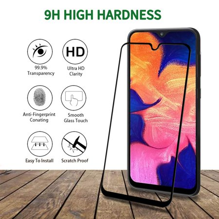 [3 Pack] Samsung Galaxy A20/A30/A50 [Full Coverage] Tempered Glass Screen Protector Case Friendly Protection Film for Samsung Galaxy A20/A30/A50