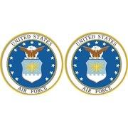US Air Force Emblem 2 Pack of 3.8 Decals (Air Force Emblem)