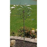 Marshall Home Corp. Silver and Green Windswept Spinner