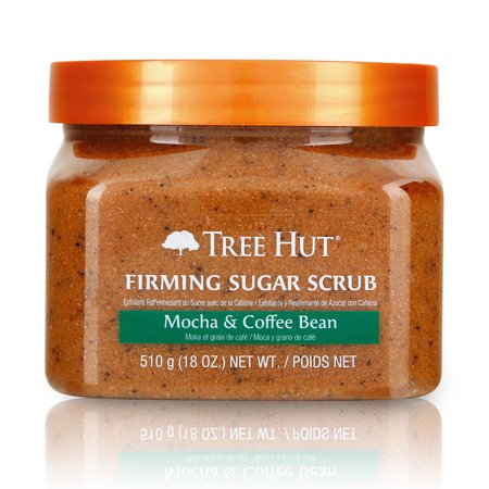 - Tree Hut Sugar Scrub Mocha & Coffee Bean, 18oz, Ultra Hydrating and Exfoliating Scrub for Nourishing Essential Body Care