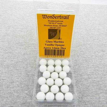 Vanilla Marble - Vanilla 14mm Glass Marbles Pack of 20 Wondertrail