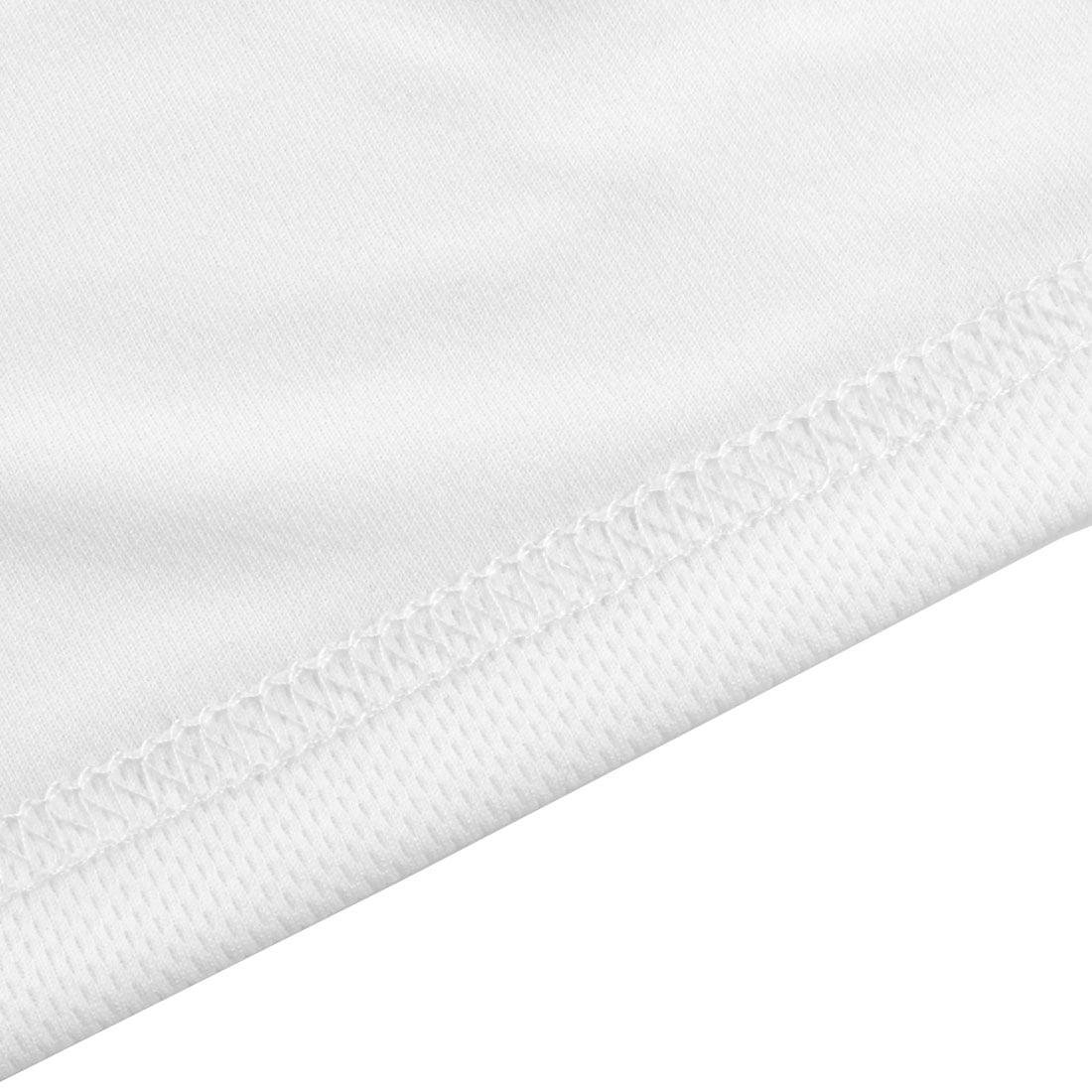 Men Exercise Marathon Polyester Short Sleeve Sports T-shirt White L/L (US 42) - image 3 de 6