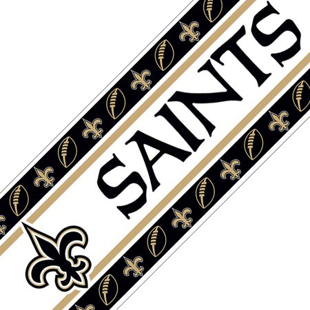 Nfl New Orleans Saints Black Wall Border L And Stick