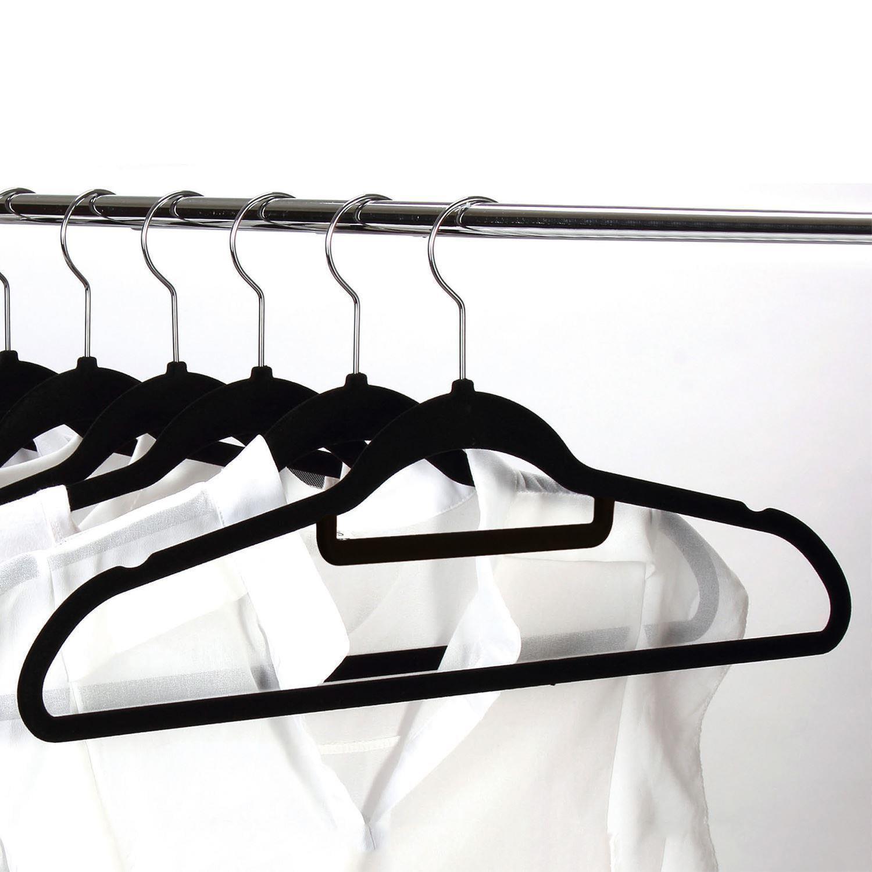 Ktaxon 10 Pack Velvet Clothes Hanger Non Slip Suit/Shirt/Pants Hangers Black