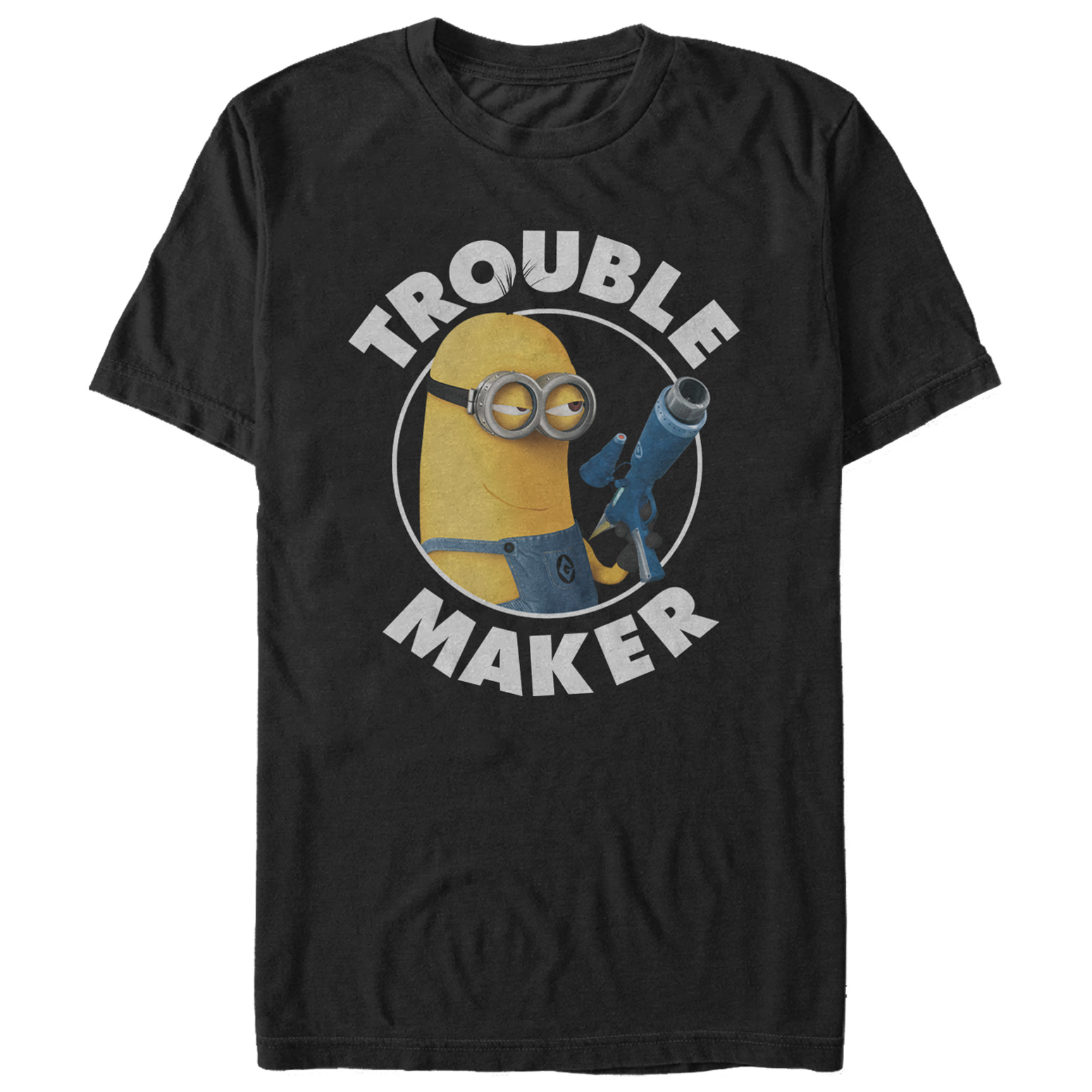 Despicable Me Minions Boys Here/'s Trouble t shirt top long sleeve New with tags