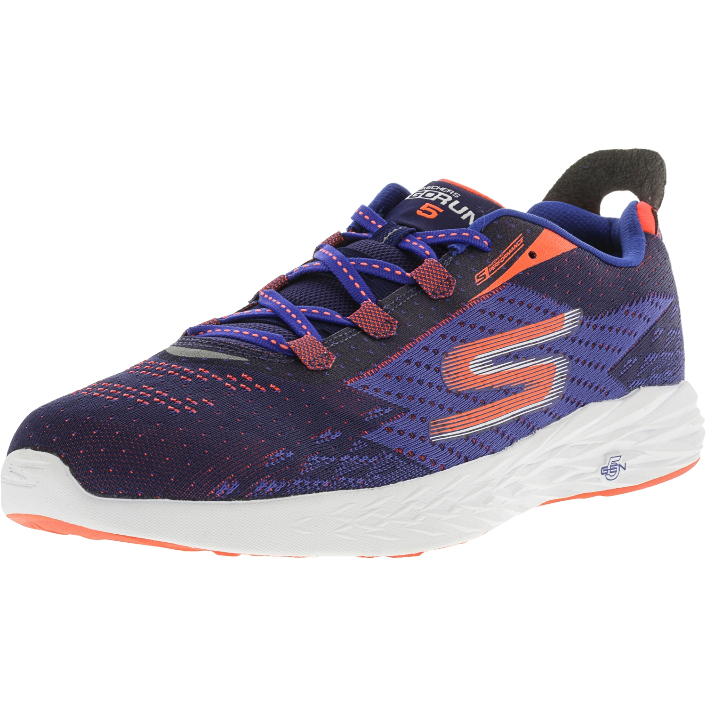 Skechers Men's Go Run 5 Blue / Orange Ankle-High Fabric Running Shoe - 12M