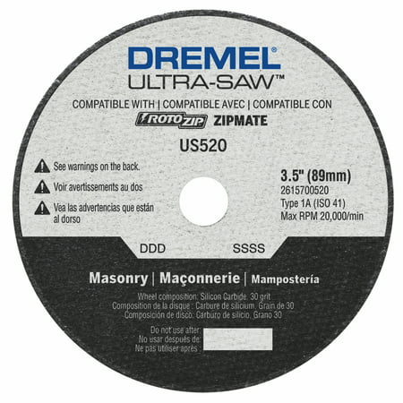 Dremel US520-01 3.5 In. Ultra-Saw™ Masonry Cut-Off Wheel ()