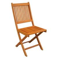 Balau Wood Folding Patio Chair - Set of 2