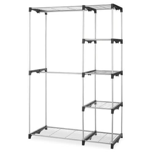 Beau Whitmor 6779 3044 Double Rod Freestanding Closet, Silver/Black