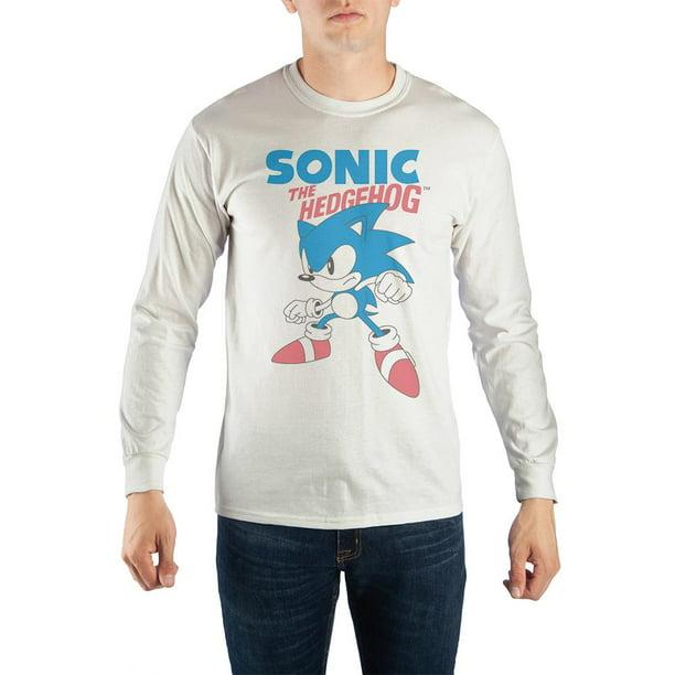 Sonic The Hedgehog Classic Long Sleeve T Shirt Large Walmart Com Walmart Com