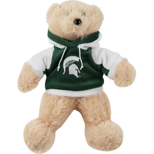 "NCAA - Michigan State Spartans 8"" Fuzzy Hoody Bear"