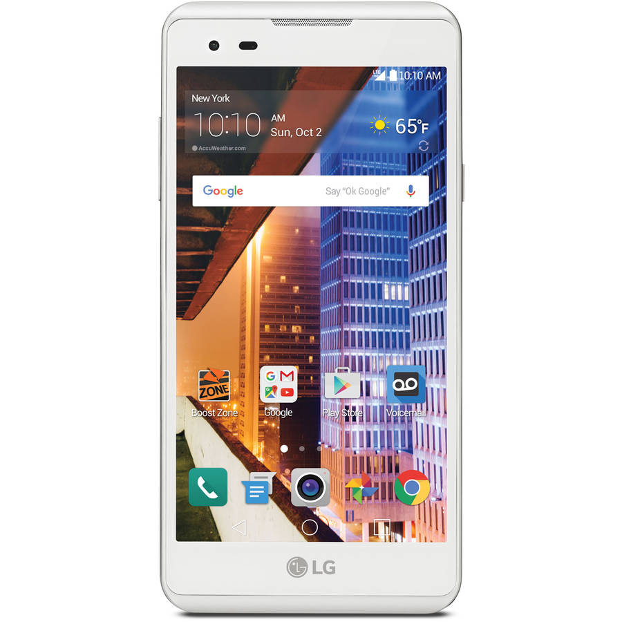 Boost Mobile LG Tribute HD 16GB Prepaid Smartphone, White
