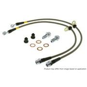StopTech 950.33507 Stainless Steel Braided Brake Hose Kit; Rear;