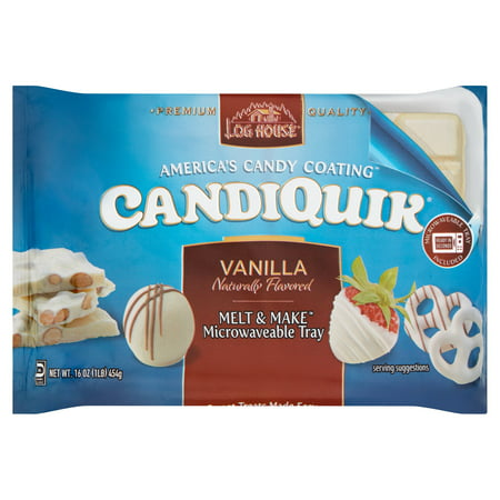 (2 Pack) Log House Vanilla CandiQuik 16 (Melt Almond Bark)