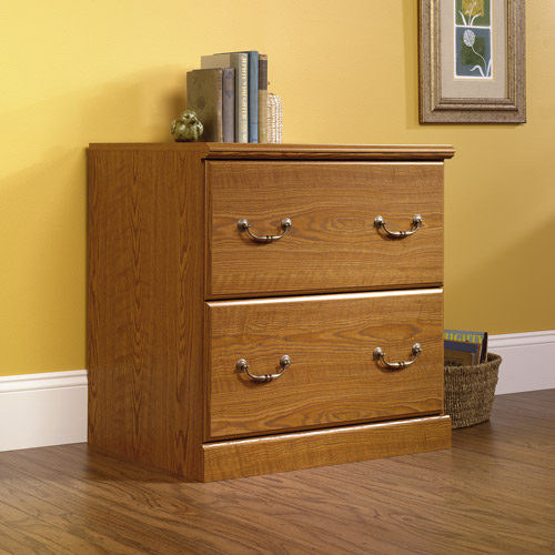 Sauder Orchard Hills Lateral File Cabinet, Carolina Oak Finish